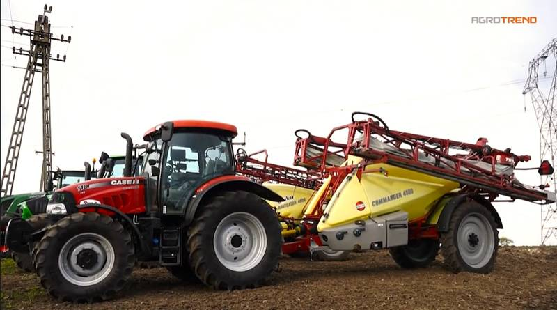 CASE IH Maxxum 110 CVX - Hardi COMMANDER 4500/24 TWIN FORCE permetező.